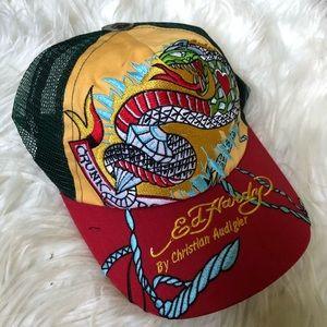 Ed Hardy Black Snapback Trucker Hat